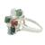 Jade cocktail ring, 'Tide Pools at Sunset' - Multi-Colored Jade Ovals in Sterling Silver Cocktail Ring (image 2c) thumbail