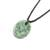 Jade pendant necklace, 'Ancient Memory' - Green Jade Pendant Necklace with Cotton Cord thumbail