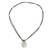 Jade pendant necklace, 'Ancient Splendor' - Green Jade Pendant Necklace with Cotton Cord (image 2b) thumbail