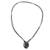 Jade pendant necklace, 'Ancient Allure' - Black Jade Pendant Necklace with Cotton Cord (image 2c) thumbail