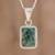 Jade pendant necklace, 'Roped Facets' - Faceted Jade Pendant Necklace from Guatemala thumbail