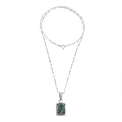 Faceted Jade Pendant Necklace from Guatemala