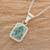 Jade pendant necklace, 'Roped Facets' - Faceted Jade Pendant Necklace from Guatemala (image 2b) thumbail