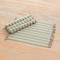 Cotton placemats, 'Woven Treasures' (set of 4) - Guatemalan Handmade 100% Cotton Placemats (Set of 4)