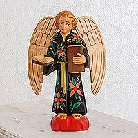 Wood sculpture, 'Wise Angel'