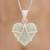 Jade pendant necklace, 'Hopeful Destiny' - Jade and Sterling Silver Heart Pendant Necklace thumbail