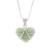 Jade pendant necklace, 'Hopeful Destiny' - Jade and Sterling Silver Heart Pendant Necklace (image 2a) thumbail