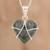 Jade pendant necklace, 'Loving Destiny' - Jade and Sterling Silver Heart Pendant Necklace (image 2) thumbail