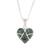 Jade pendant necklace, 'Loving Destiny' - Jade and Sterling Silver Heart Pendant Necklace thumbail