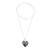 Jade pendant necklace, 'Loving Destiny' - Jade and Sterling Silver Heart Pendant Necklace (image 2c) thumbail