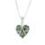 Jade pendant necklace, 'Magical Destiny' - Jade and Sterling Silver Heart Pendant Necklace (image 2a) thumbail