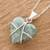 Jade pendant necklace, 'Magical Destiny' - Jade and Sterling Silver Heart Pendant Necklace (image 2b) thumbail