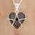 Jade pendant necklace, 'Inspiring Destiny' - Black Jade and Sterling Silver Heart Pendant Necklace (image 2) thumbail