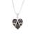 Jade pendant necklace, 'Inspiring Destiny' - Black Jade and Sterling Silver Heart Pendant Necklace thumbail