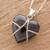 Jade pendant necklace, 'Inspiring Destiny' - Black Jade and Sterling Silver Heart Pendant Necklace (image 2b) thumbail