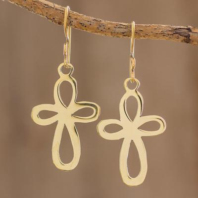 Novica Brass dangle earrings, Magic Key