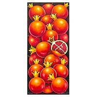 'Pomegranates' - Signed Realist Pomegranate Painting from Guatemal