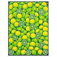 'Limes' - Signed Realist Painting of Limes from Guatemala