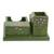 Wood desk organizer, 'Vivid Flowers in Green' - Green Pinewood Desk Organizer with Hand Painted Flowers (image 2c) thumbail