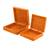 Wood decorative boxes, 'Glorious Garden' (pair) - Square Pinewood Red-Orange Flowers Decorative Boxes (Pair) (image 2b) thumbail