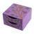 Wood jewelry chest, 'Natural Delicacy' - Floral Tree Pinewood Jewelry Ches in Purple from El Salvador (image 2a) thumbail
