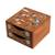 Wood jewelry box, 'Lively Tree' - Pinewood Jewelry Box with Bird and Tree Motifs (image 2a) thumbail