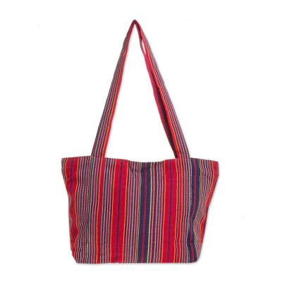 Novica Cotton tote, Island Illusion