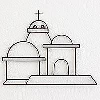 Iron wall art, 'Dome of Saint Lucy' - Architectural Iron Wall Art from Guatemala