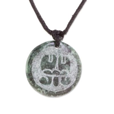 Jade Necklace of Mayan Figure Aq