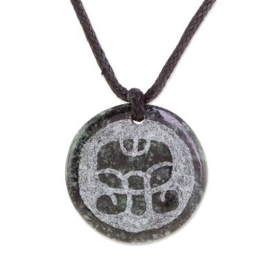 Jade Pendant Necklace of Mayan Figure K