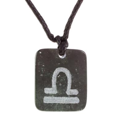 Jade Zodiac Libra Pendant Necklace from Guatemala