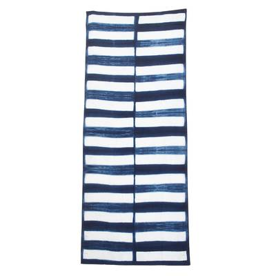 Rectangle Motif Tie-Dyed Cotton Throw from Guatemala
