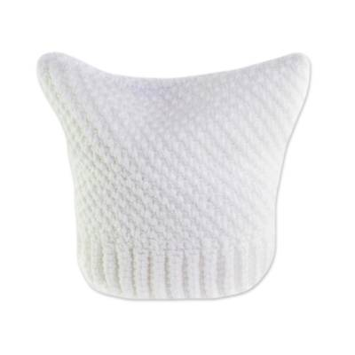 Crocheted Hat in White from Guatemala