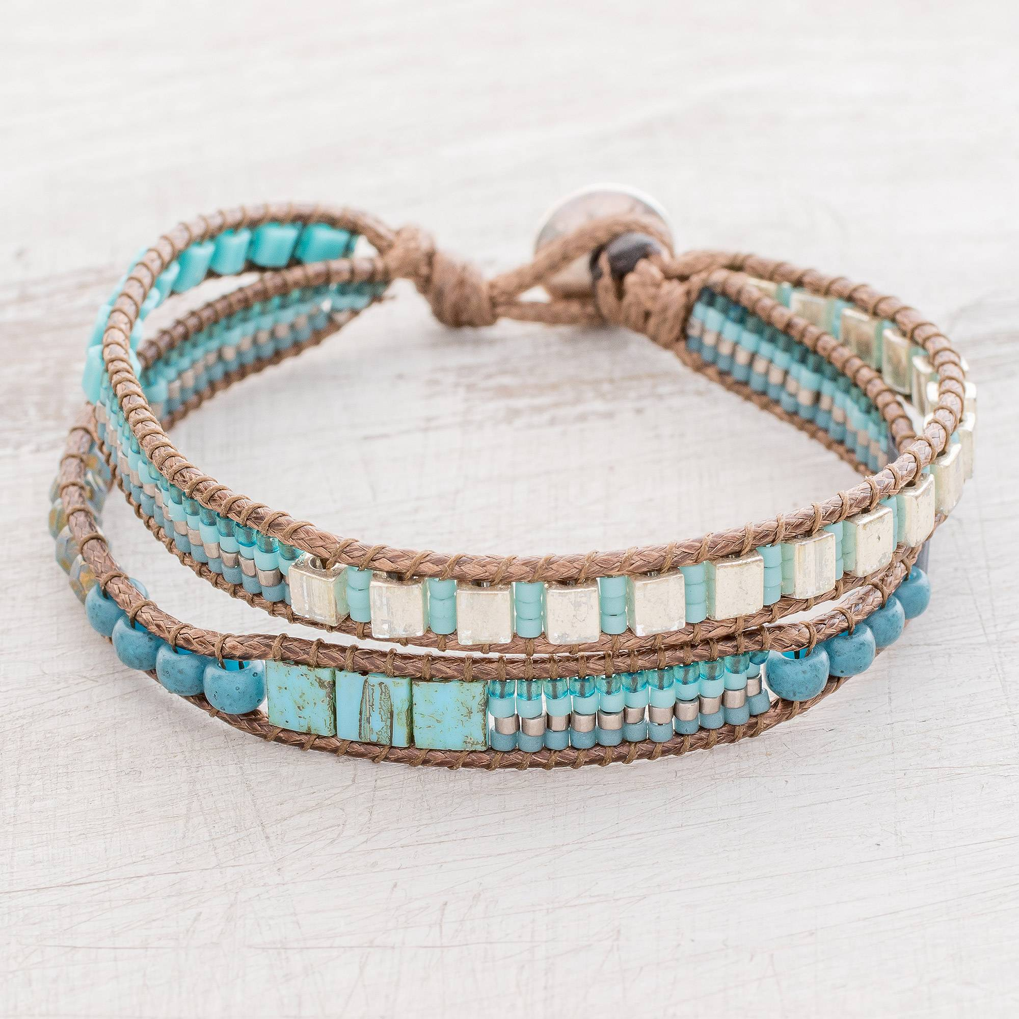 Crafted Gl Beaded Bracelet