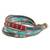 Glass beaded wristband bracelet, 'Atitlan Path' - Glass Beaded Wristband Bracelet Handcrafted in Guatemala (image 2c) thumbail