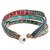 Glass beaded wristband bracelet, 'Atitlan Path' - Glass Beaded Wristband Bracelet Handcrafted in Guatemala (image 2d) thumbail