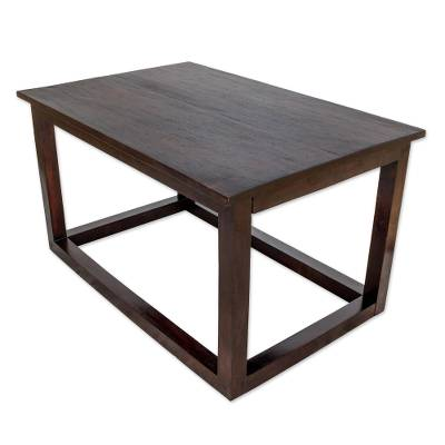 Modern Pinewood Accent Table from Guatemala