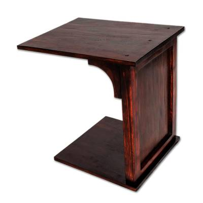Handcrafted Pinewood Auxiliary Table from Guatemala