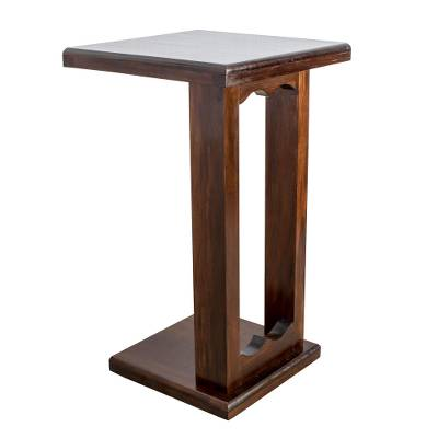 Wood auxiliary table, 'Comfort and Convenience' - Handmade Pinewood Auxiliary Table from Guatemala