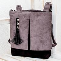 Leather backpack, 'Exploration in Grey' - Handmade Leather Backpack in Grey from Costa Rica