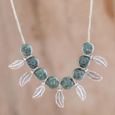 Jade beaded pendant necklace from guatemala nature in the air novica jade beaded pendant necklace nature in the air jade beaded pendant necklace aloadofball Images