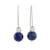Lapis lazuli drop earrings, 'Night of Stars' - Lapis Lazuli Beaded Drop Earrings from Guatemala (image 2a) thumbail