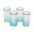 Recycled glass shot glasses, 'Glistening Sea' (set of 4) - Recycled Glass Shot Glasses in Blue (Set of 4) (image 2a) thumbail