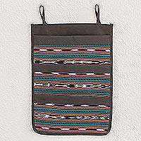 Cotton blend hanging organizer, 'Harmony Stripes' - Striped Cotton Blend Hanging Organizer from Guatemala