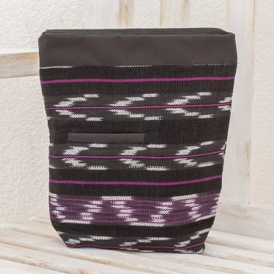 Cotton blend travel bag, Chevron Serenity