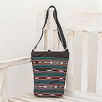 Cotton blend sling, 'Harmony Stripes' - Striped Cotton Blend Sling in Guatemala