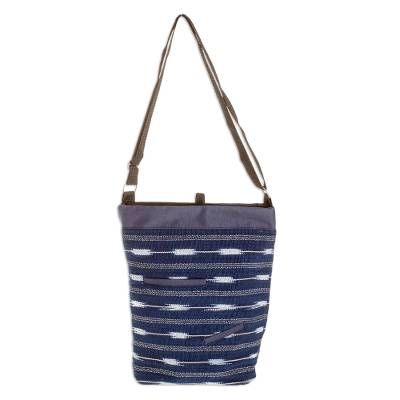 Cotton Blend Sling in Indigo from Guatemala