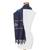 Cotton blend scarf, 'Fret Chic in Blue' - Blue and Beige Stepped-Fret Rhombus Motif Cotton Blend Scarf (image 2d) thumbail