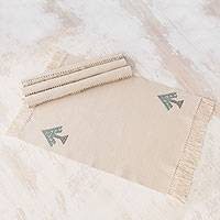 Cotton placemats, 'Lovely Trees' (set of 4) - Handwoven Tree Motif Cotton Placemats (Set of 4)