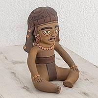 Ceramic sculpture, 'Pre-Columbian Figure' - Ceramic Sculpture of a Pre-Hispanic Figure from Nicaragua